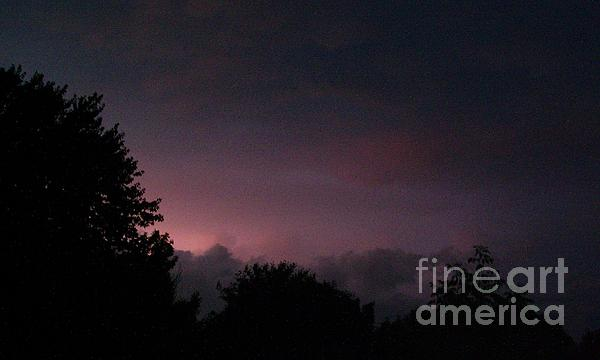 Purple Haze After Storm Print by Gail Matthews