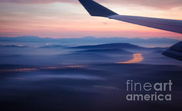 Purple Haze - Atmospheric View Of Early Morning Mist Print by David Hill