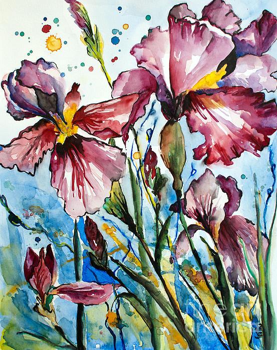Fei Liu - Purple Irises