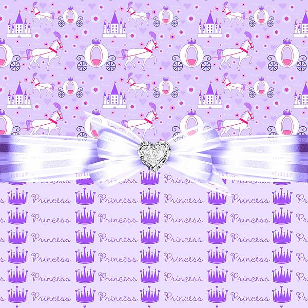 Purple Passion Princess Print by Debra  Miller