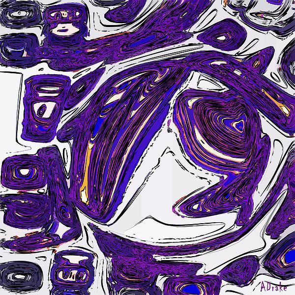 Purple People Eater Print by Alec Drake