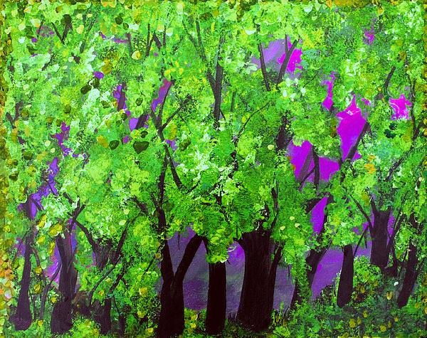 Family Treasures PRIVATE GALLERY - Purple  Plum Fuschia Forest