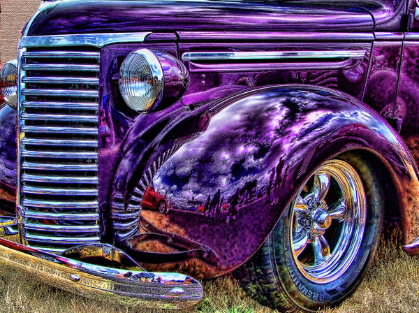 Purple Print by Ron Roberts