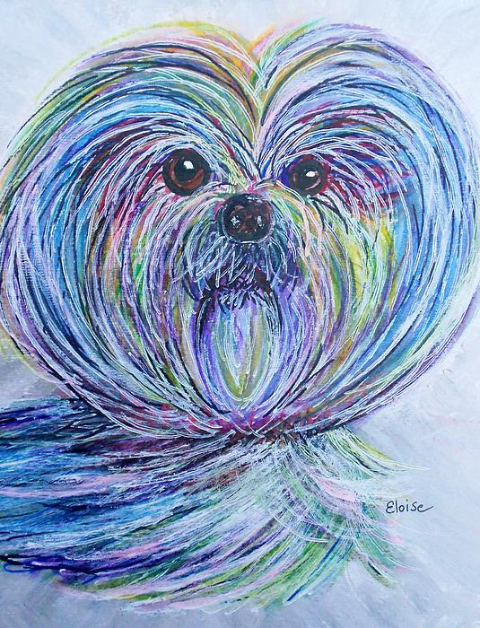 Purse Pup Portrait Print by Eloise Schneider