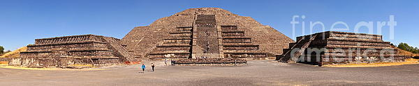 Pyramid Of The Moon Panorama Print by Sean Griffin