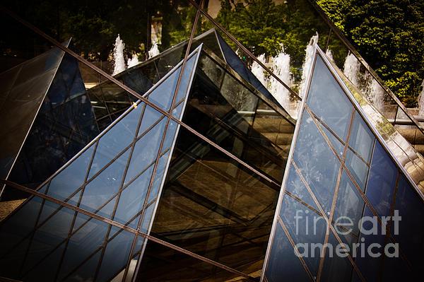 Pyramids Reflected Print by Tom Gari Gallery-Three-Photography