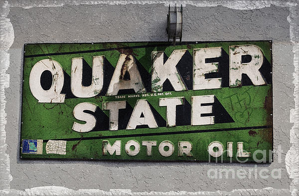 Quaker State Motor Oil Print by Janice Rae Pariza