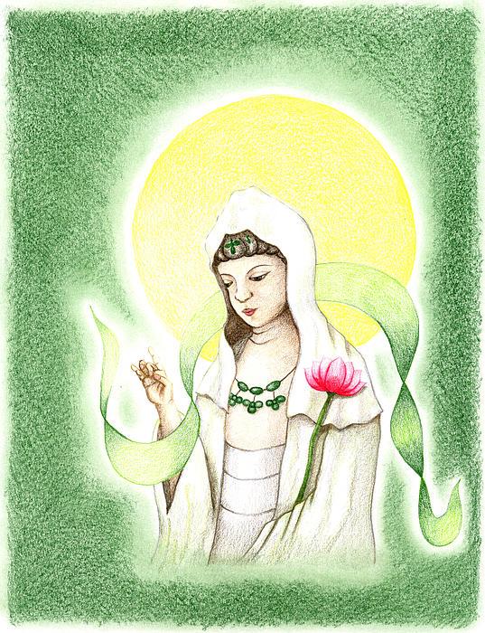 Quan Yin Print by Keiko Katsuta