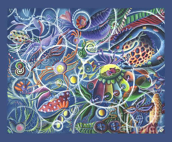Quantum Entanglement Print by Vera Tour