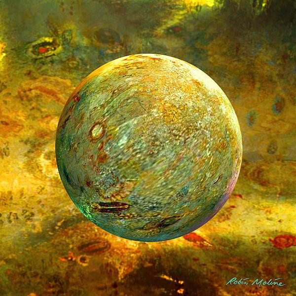 Quantum Soul...orb Of Light Print by Robin Moline