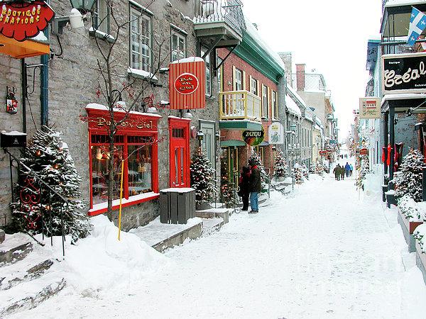 Quebec City In Winter Print by Thomas R Fletcher