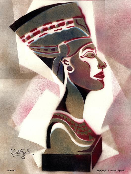 Queen Nefertiti 1998 Print by Everett Spruill