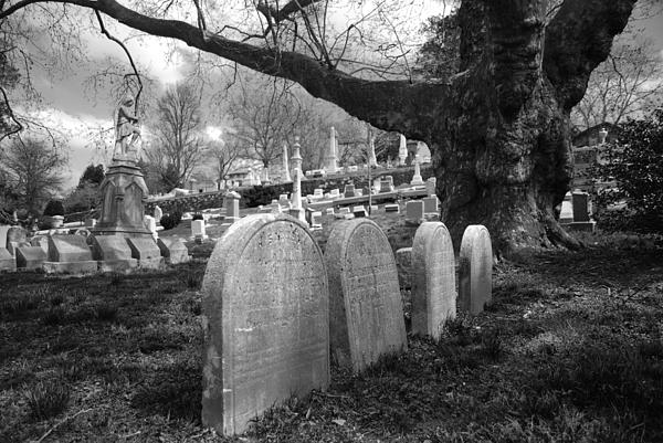 Quiet Cemetery Print by Jennifer Lyon