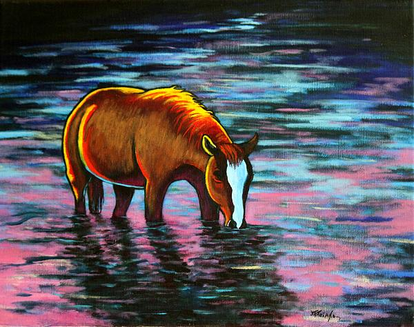 Quiet Reflections Brood Mare Print by Joe  Triano