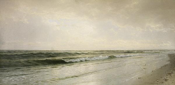 Quiet Seascape Print by William Trost Richards