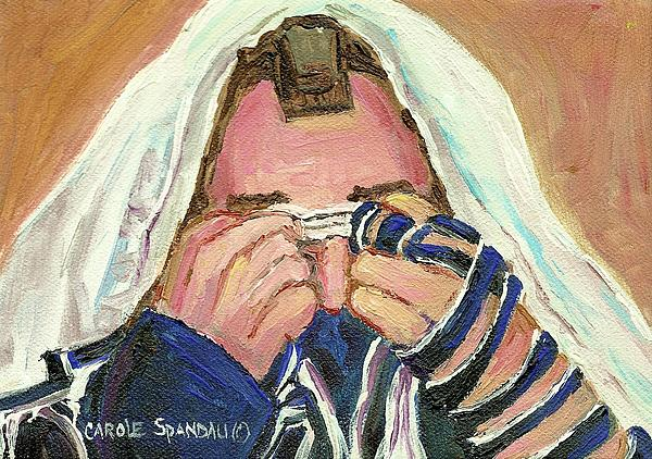 Rabbi's Prayer For The Sabbath Print by Carole Spandau