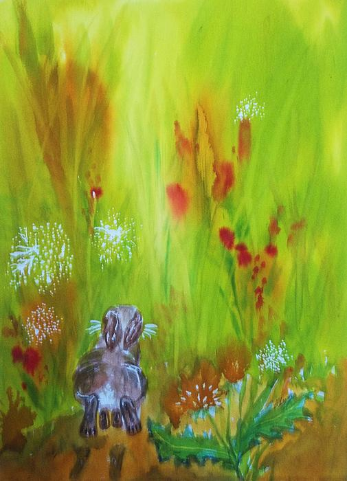 Ellen Levinson - Rabbit Hopping Through The Wildflowers