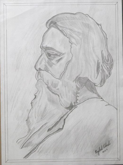 Rabindranath Tagore by Rajdeep  Rabindranath Tagore Sketch Picture
