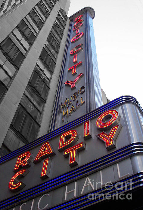 Radio City Print by Dan Holm