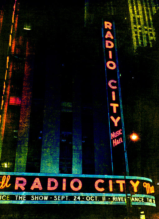 Radio City Grunge Print by Joann Vitali