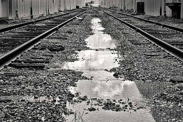 Railroad 5715bw Print by Rudy Umans