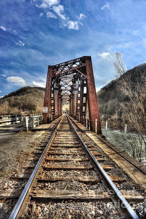 Railroad Bridge Into Thurmond Wv Print by Dan Friend