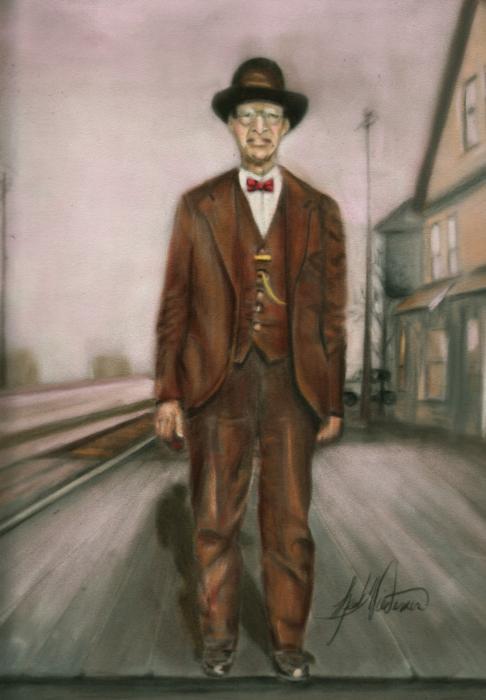 Railroad Man Print by Leah Wiedemer