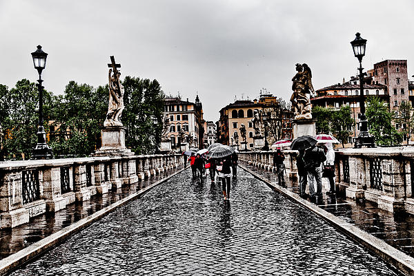 Rain In Rome Print by Francesco Zappala