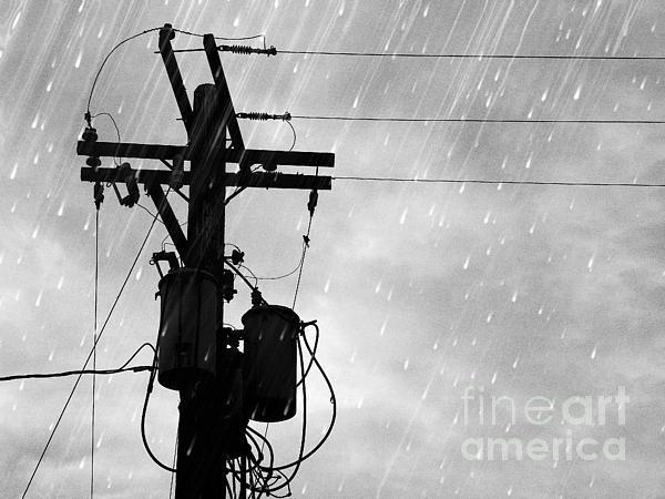 Rain Print by Jennifer Kimberly