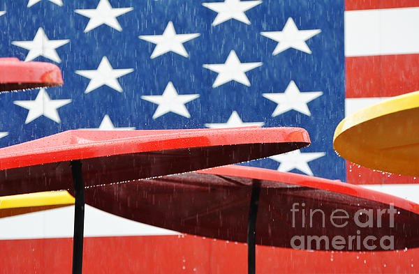 Rain On The Fourth Of July Print by Adspice Studios