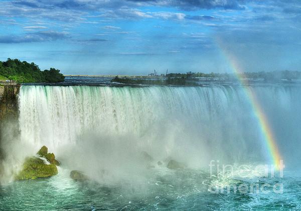 Rainbow At Niagara Print by Mel Steinhauer
