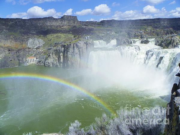 J J - Rainbow at Shoshone Falls - Snake River Canyon