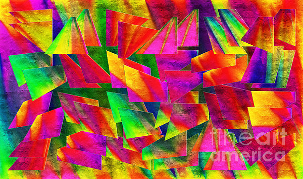 Rainbow Bliss 2 - Twisted - Painterly H Print by Andee Design