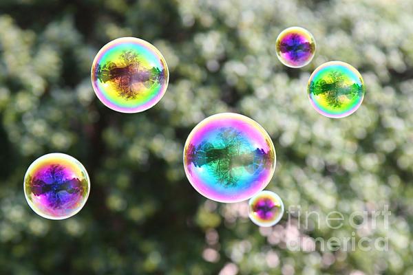 Rainbow Bubbles Print by Suzi Nelson