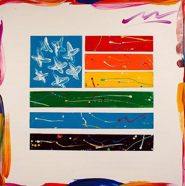 Rainbow Flag Print by Mac Worthington