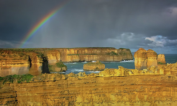 Joan Carroll - Rainbow over Southern Ocean