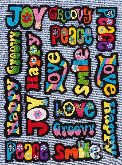 Rainbow Text Print by Tim Gainey