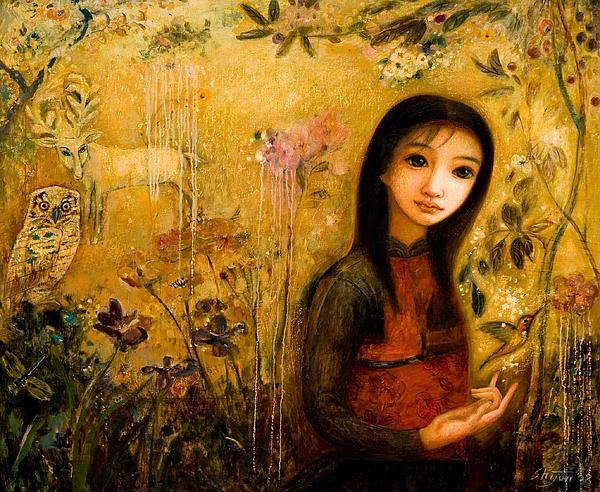 Raining Garden Print by Shijun Munns