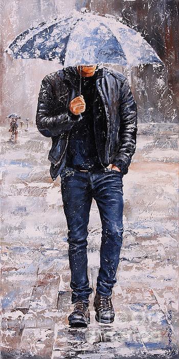 Rainy Day #23 Print by Emerico Imre Toth