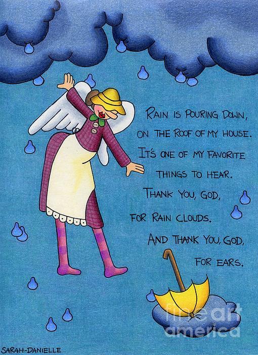 Rainy Day Angel Print by Sarah Batalka