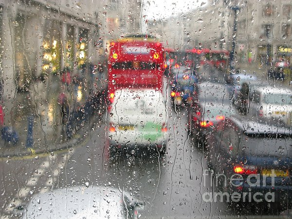 Ann Horn - Rainy Day London Traffic