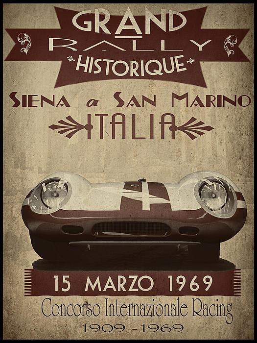 Rally Italia Print by Cinema Photography