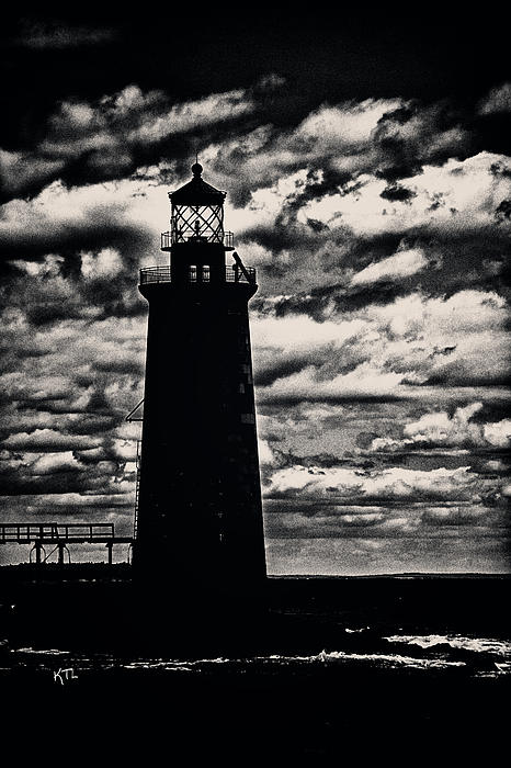Ram Island Ledge Light Print by Karol  Livote