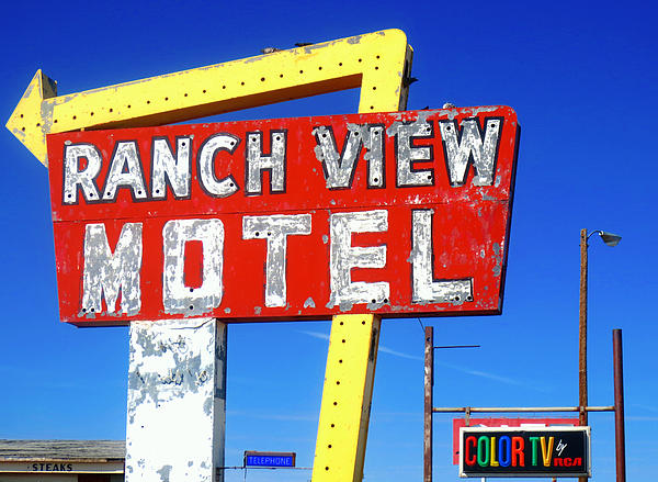 Ranch View Motel Print by Gia Marie Houck
