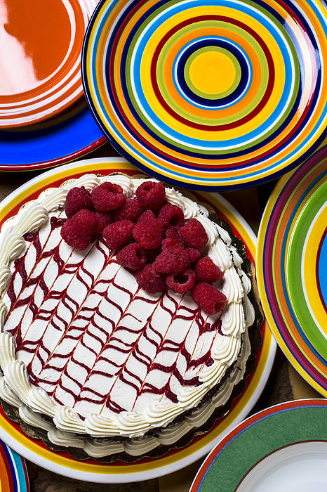 Raspberry Cake Print by Garry Gay