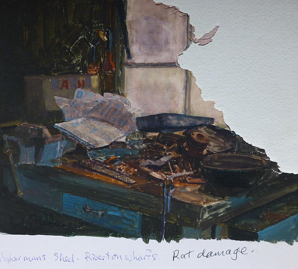 Rat Damage Print by Terry Perham