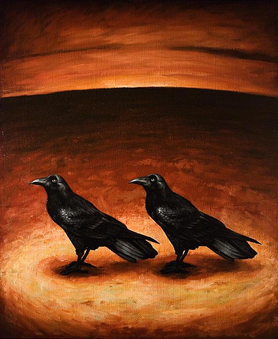 Ravens Print by Mark Zelmer