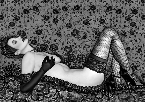 Ravishing Romance - Self Portrait Print by Jaeda DeWalt