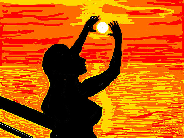 Reaching To The Sun Print by Anand Swaroop Manchiraju