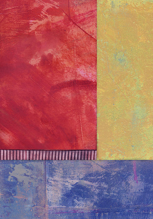 Rectangles - Abstract -art  Print by Ann Powell